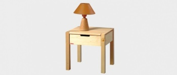Noční stolek CHRISTINE smrk