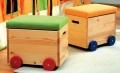 Vozík na hračky - oranžový