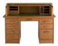 Boknäs - psací stůl, 8 zásuvek a roleta