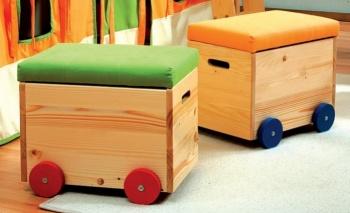 Vozík na hračky - zelený