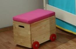 Vozík na hračky - růžový