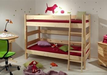 Gazel Sendy etážová postel 90 x 200 cm palanda 155 cm přírodní