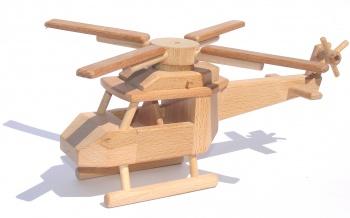 Dřevěná helikoptéra - vrtulník