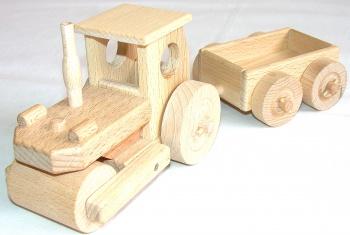 Dřevěný parní válec s vozíkem