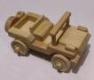 Dřevěný jeep vojenský