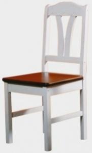 Židle I. bílo-hnědá