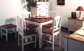 Jídelní stůl bílo-hnědý 78x78
