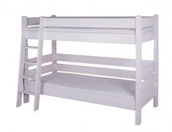 Gazel Sendy etážová postel 90 x 200 cm palanda 180 cm bílá