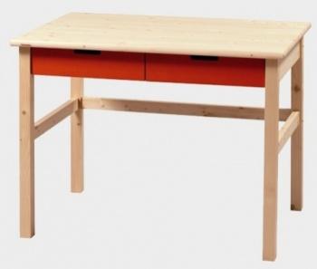 Stůl zásuvkový MARIO - NATIVE oranžová