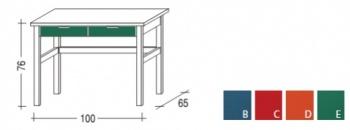 Stůl zásuvkový MARIO - NATIVE zelená