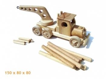Dřevěné autíčko - Odtahová služba