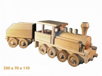 Dřevěná parní lokomotiva
