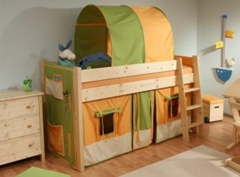 Gazel Sendy postel 90 x 200 zvýšená 120 cm přírodní