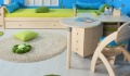 Stůl k PC stolu-kulatý D704