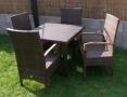 santa barbara set 4x křeslo Garden YAG55401 + stůl Chelsea 100x100cm