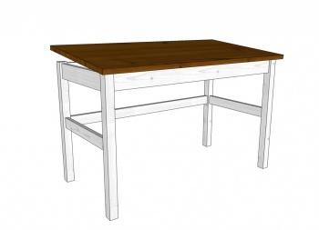 Stůl náklopný MARIO, bílo-hnědá