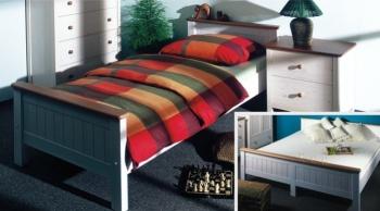 postel ANNY 180 bílo-hnědá č. 243