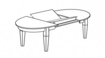Boknäs - kulatý stůl rozkládací s vnitřním...
