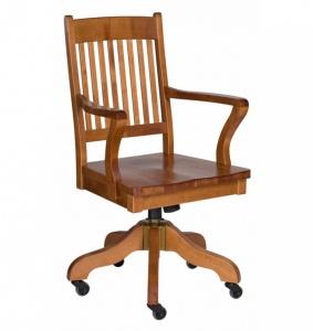 Boknäs - židle otočná s područkou, na kolečkách