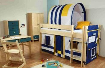 Gazel Etážová postel Bella nízká - NATIVE modrá