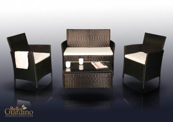 Bello Giardino Zahradní nábytek souprava Comodo černá