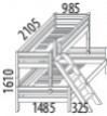 Domestav Palanda dvojlůžko nízká D859 - buk
