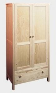 Gazel Šatní skříň NATUR, hloubka 45 cm, č. 095 voskovaná