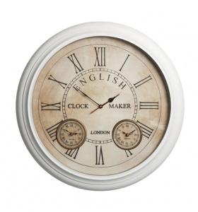 Club Vintage Interiors - nástěnné hodiny, bílé