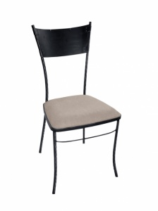 Iron - Art Židle Carcassonne s kovovou opěrkou