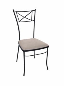 Iron - Art Židle Carcassonne s kovovou opěrkou II