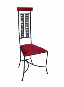 Iron - Art Židle Gargano s dřevěným madlem