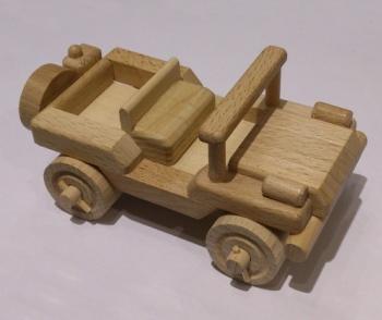 CEEDA Cavity Dřevěný jeep vojenský