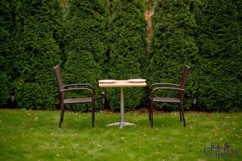 Bello Giardino Zahradní jídelní sestava Duo tmavě hnědá