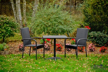 Bello Giardino Zahradní jídelní sestava Duo černá