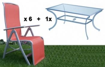 Hartman Marbella zahradní set 6x křeslo + relax a stůl...